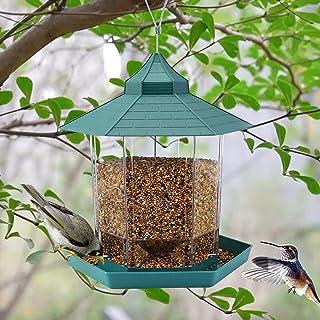 Hanging Wild Bird Feeder Gazebo Birdfeeder Outside Decoration - Perfect for Attracting Birds on Outdoor Garden Yard for Bi...
