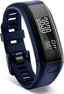 Garmin Vívosmart HR - Pulsera de actividad con pulsómetro integrado Garmin Elevate, color azul, talla M-L (Reacondicionado)