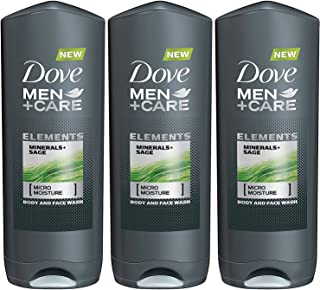 Dove Men + Care Elements Body Wash, Minerals and Sage, 13.5 Ounce(Pack of 3)
