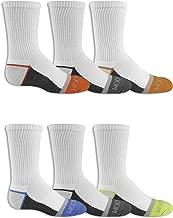 جوارب برسومات فروت اوف ذا لوم للأولاد مكونة من 6 أزواج نصف وسادة -  6-pair Half Cushion Crew Socks Shoe Size: 9-2.5 (Medium)