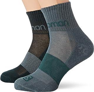 [サロモン] ソックス 靴下 2足セット EVASION 2-PACK (2足セット) (エヴァージョン 2 パック) S (22-24cm)~L (27-29cm) (日本サイズS~L相当)
