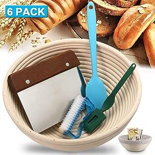 9.5 Inch Bread Proofing Basket Banneton Proofing Basket Bread Baking Making Rising Baskets For Sourdough Brotform Proofing Basket Bowl 6 Pack Set
