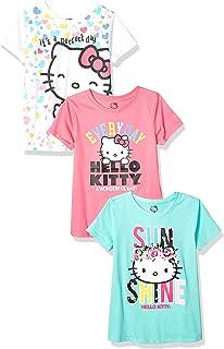 تي شيرتات Hello Kitty للبنات عبوة اقتصادية