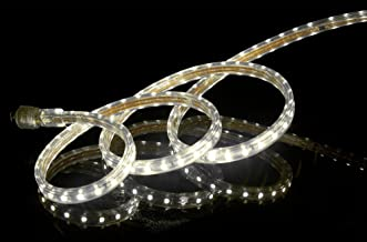 CBconcept UL Listed, 16.4 Feet, Super Bright 4500 Lumen, 4000K Soft White, Dimmable, 110-120V AC Flexible Flat LED Strip Rope Light, 300 Units 5050 SMD LEDs, Indoor Outdoor Use, Ready to use