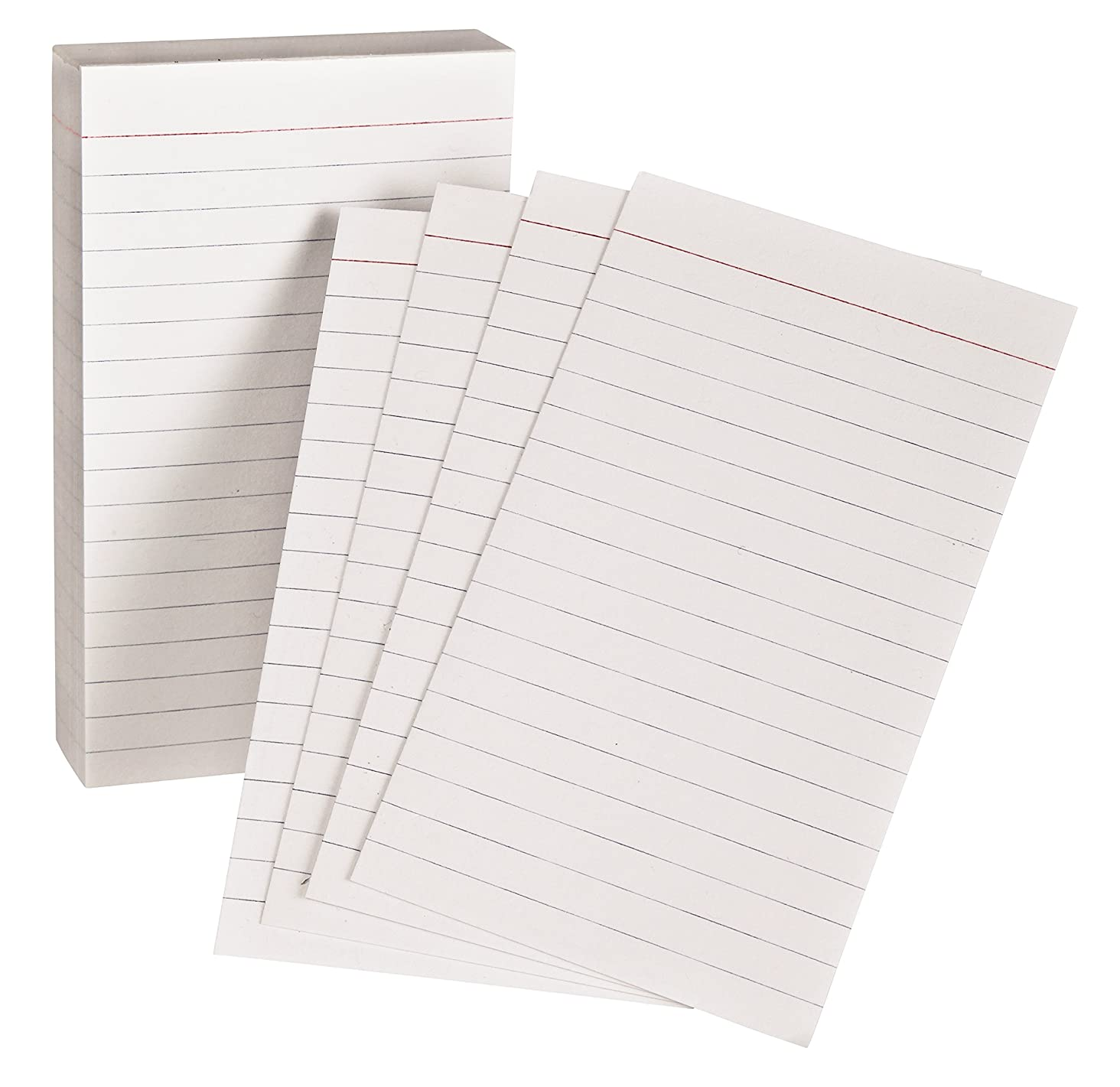 Oxford Padded Memo Ruled Index Cards, White, 5 x 3 Inches, 100 per Pack (006351)