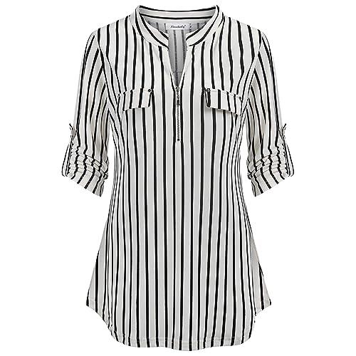 Plus Size Black And White Blouses Amazon Com