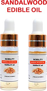 Nobility Pure Sandalwood Edible Oil - Chandan ka Tel - Pack of 02 - Size : 05 ML + 05 ML