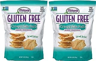 Milton's Gluten Free Crackers (Crispy Sea Salt). Crispy and Gluten-Free Grain Baked Crackers (Pack of 2, 4.5 ounce).