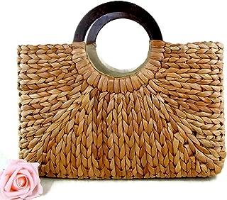 Top Handle Straw Handbag | Casual Women Satchel | Travel Tote | Everyday Large Bag