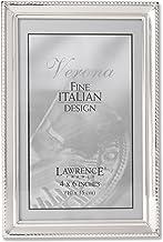 Lawrence Frames Moldura de prata polida 10 x 15 cm - Design de borda com contas