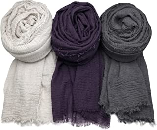 Sponsored Ad - AxeSickle Women Scarf Shawl for All Season 3PCS Scarve Wrap Scarve.