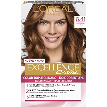 LOréal Paris Excellence Coloración Crème Triple Protección, Tono: 6.41