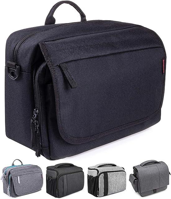 Bodyguard SLR Messenger Bag Photo Bag SLR para cámaras DSLR y accesorios bolso negro - acolchado con bandolera y muchos compartimentos para 2-3 lentes y más.