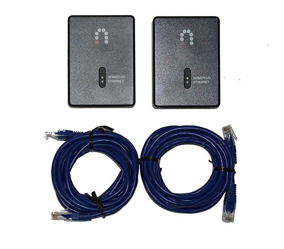 2 Pack - Sling Media SlingLink Turbo W1 HomePlug Ethernet Adapter (ES157089)
