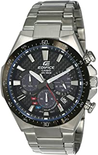Casio Edifice Men's Black Dial Stainless Steel Band Watch - EQS-800CDB-1A