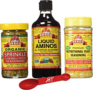 Bragg's Organic Kitchen Variety Pack: Bragg Organic Liquid Aminos 16 oz + Bragg's Sprinkle Seasoning Blend ...