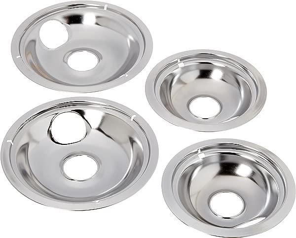 Stanco 5556 4 Pack Universal Electric Range Chrome Reflector Drip Bowl