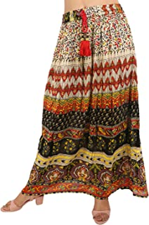 V-CAV Women's Long Skirt in Indian Style for Party, Casual Wear