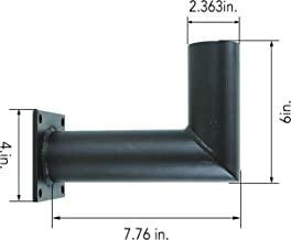 90 Degree Wall Mount Bracket With Tenon. Mounting Accessory. Steel Mount. Lighting Accessory.