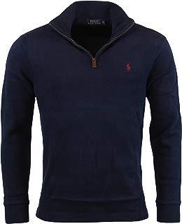 Polo Ralph Lauren Men's Half Zip French Rib Cotton Pullover Sweater