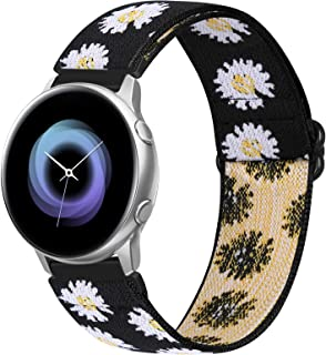 WNIPH 20mm Nylon Elastic Watch Bands Compatible for Galaxy Watch 3 41mm/Galaxy Watch 42mm/Active 2 40mm 44mm/Gear S2 Classic Stretch Adjustable Sport Loop Replacement Straps (Sunflower, 20mm)