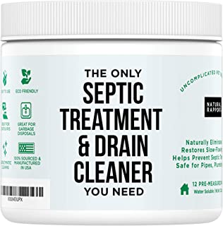 Drain and Septic Tank Cleaner Treatment - Natural Rapport - Professional Strength Holding Tank & Drain Cleaner for Home an...