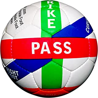 Assist Sports Instructional Soccer Ball - Learn How To Kick - Size 4 & Size 5 Soccer Ball