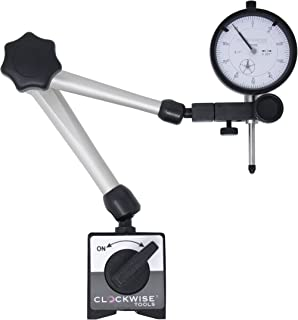Clockwise Tools DIMR-0105 Dial Indicator Gage Gauge and Magnetic Base 0-1 inch Measuring Tool …