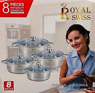 Bavary Royal Swiss Set 8Piezas, toepfe ollas 18–10Acero Inoxidable también Apta para inducción