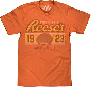 Tee Luv Reese's Peanut Butter Cup T-Shirt   Soft Touch Poly Cotton Blend Fabric   Officially Licensed Graphic Tee by