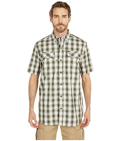 Carhartt TW258 Force Relaxed Fit Short Sleeve Plaid Shirt (Moss) Men