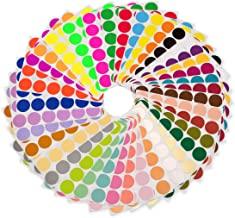 ChromaLabel 38 Collection Permanent Color-Code Dot Stickers, 38 Assorted Colors, 3/4 inch