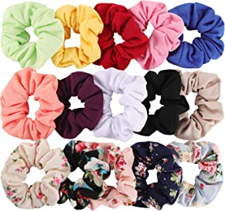 Hair Scrunchies Cotton Elastic Hair Bands 15 Pcs Scrunchies for Hair Accessories for Women or Girls