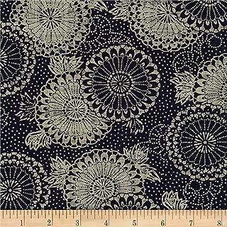 Robert Kaufman Kaufman Sevenberry: Nara Homespun Medallion Kumo Indigo Fabric by The Yard,