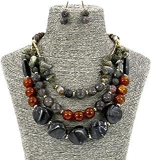 Comelyjewel Fashion Jewelry Long Resin Stone Beads...