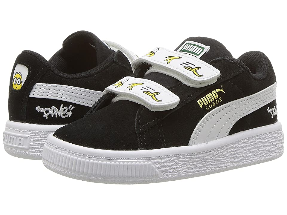 Puma Kids Minions Suede V (Toddler) (Puma Black/Puma White) Kids Shoes