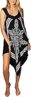 INGEAR Crochet Casual Dress Embroidery Summer Beach Handkerchief Relaxed Sundress