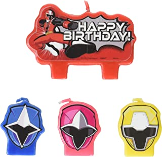 amscan Power Rangers Ninja Steel Candle Set