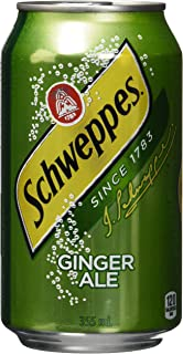 Schweppes Ginger Ale Cans, 355mL, 12 Pack, Imported From Canada