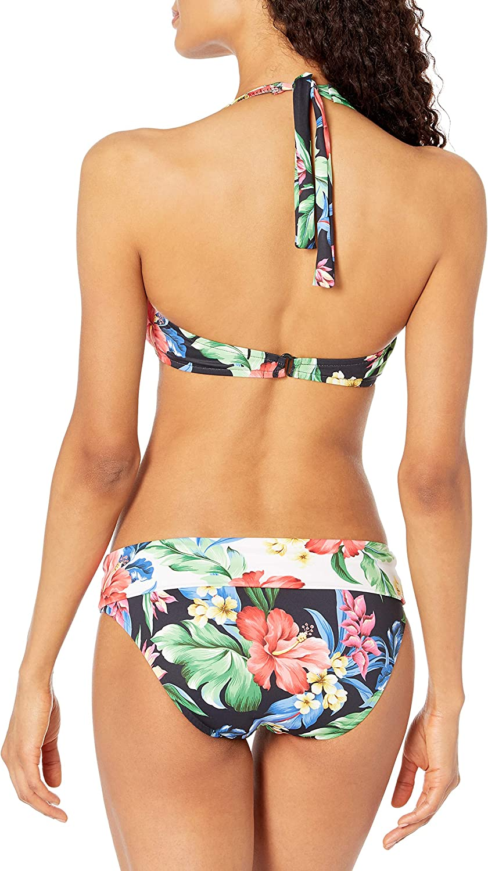 Prego Womens Maternity Hawaiian Roll Waist Bikini