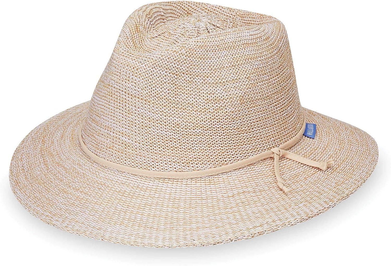Wallaroo Hat Company Women's Victoria Fedora Sun Hat – UPF 50+, Adjustable, Packable, Modern Style, Designed in Australia