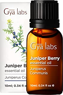 Gya Labs Juniper Berry Essential Oil for Skin Care, Pain Relief, Sleep - Reduce Breakout, Relieve Sore Muscles, Relax Mood...