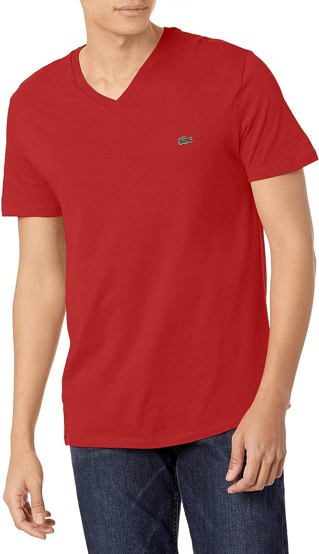Lacoste Men's Short Max Max 75% OFF 61% OFF Sleeve Jersey V Neck Pima T-Shirt