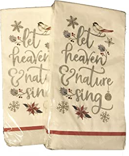 Christmas Holiday Buffet Paper Napkins Guest Towels for 40 (White Heaven N Nature)