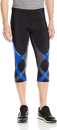 CW-X 男式 3/4 Capri Stabilyx 高性能压缩运动紧身裤
