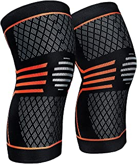 ZetHot Knee Compression Sleeve Support Brace(Pair) Knee Brace for Running, Jogging, Sports, Joint Pain Relief, Arthritis and Injury Recovery (S)