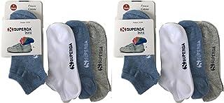 Superga' 6 pares de calcetines FANTASMINI invisibles de algodón finísimo hombre mujer niño