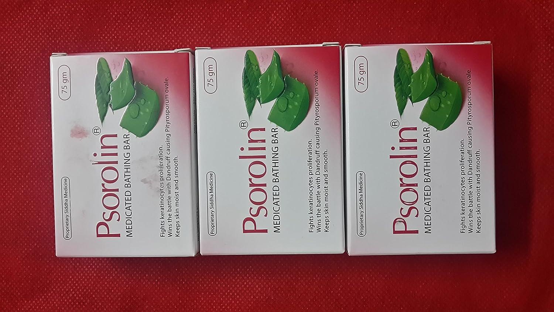 PSOROLIN Medicated Soap Online limited product - 3 for Japan Maker New Pieces Psoriasis Vitiligo Derm