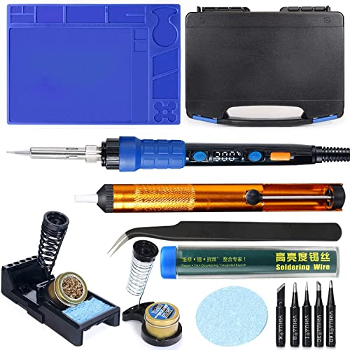 discount YIHUA 928D online sale Hand Soldering Iron Kit bundle with X-4 Premium Soldering Iron Holder (back-up lowest option) (17 items) sale