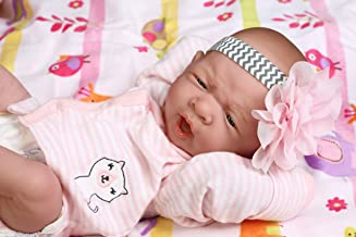 """Precious Reborn Baby Girl Doll 14"""" inches Preemie La Newborn w/ Beautiful Accessories Anatomically Correct Washable Berenguer Real Realistic Soft Vinyl Alive Life Like Pacifier"""